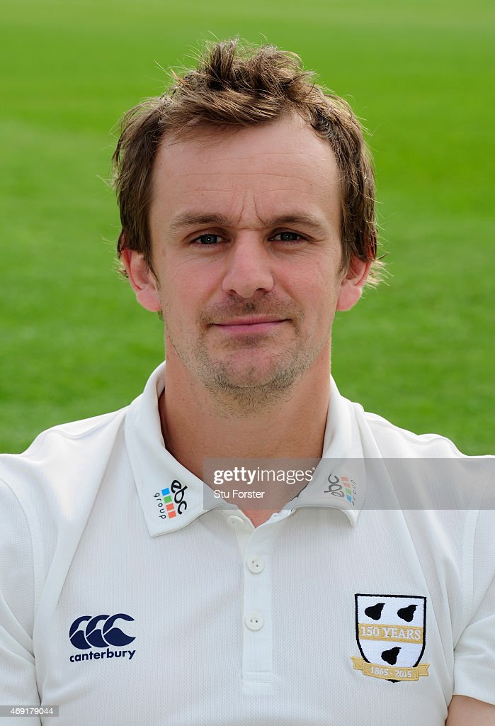 Worcestershire player Alex Gidman pictured at the Worcestershire County Cricket photocall prior to the 2015 Season at New Road on April 10 2015 in...