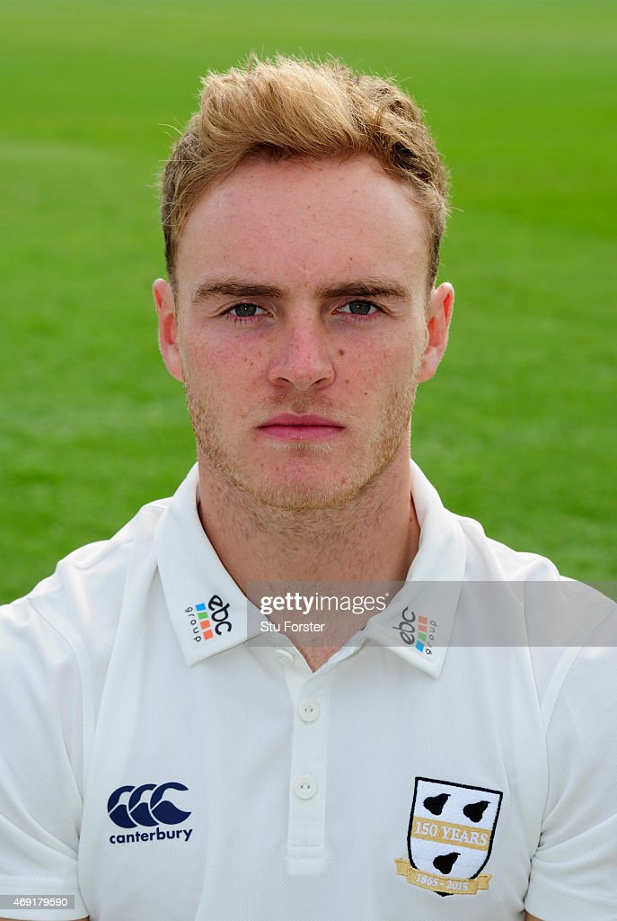 Worcestershire player Ben Cox pictured at the Worcestershire County Cricket photocall prior to the 2015 Season at New Road on April 10 2015 in...