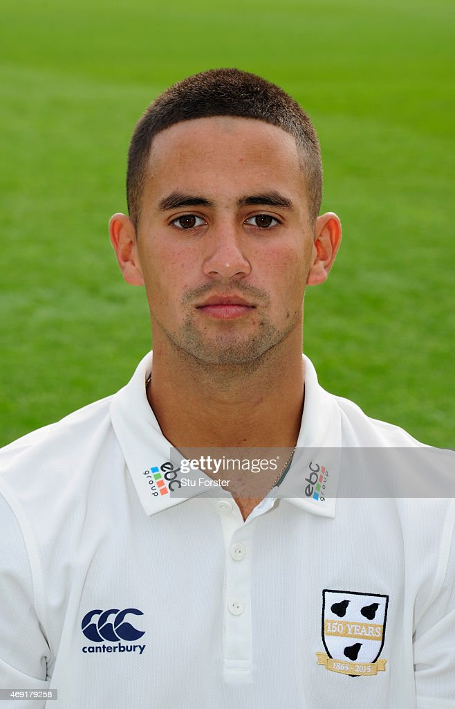 Worcestershire player Brett D'Oliveira pictured at the Worcestershire County Cricket photocall prior to the 2015 Season at New Road on April 10 2015...