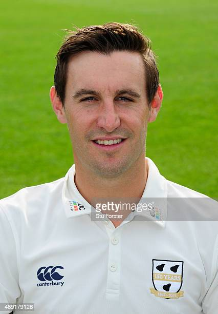 Worcestershire player Daryl Mitchell pictured at the Worcestershire County Cricket photocall prior to the 2015 Season at New Road on April 10 2015 in...