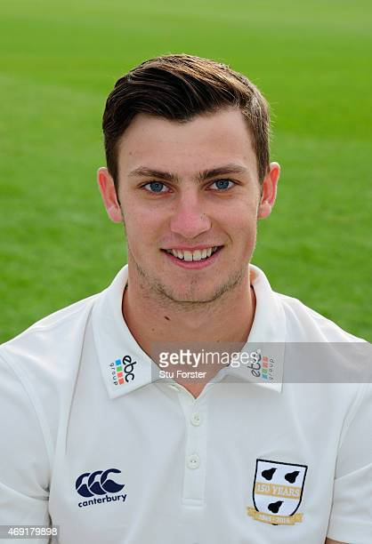 Worcestershire player Ed Barnard pictured at the Worcestershire County Cricket photocall prior to the 2015 Season at New Road on April 10 2015 in...