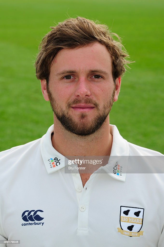 Worcestershire player Ross Whiteley pictured at the Worcestershire County Cricket photocall prior to the 2015 Season at New Road on April 10 2015 in...