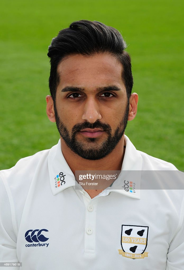 Worcestershire player Shaaiq Choudhry pictured at the Worcestershire County Cricket photocall prior to the 2015 Season at New Road on April 10 2015...