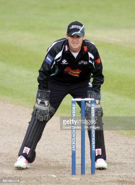 Worcestershire wicketkeeper Steven Davies during the Friends Provident Trophy Northern Conference match against Leicestershire at New Road Worcester