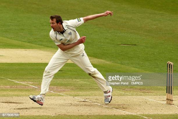 Worcestershire's Alan Richardson in action bowling
