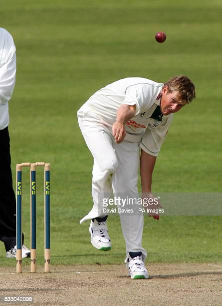 Worcestershire's Dewald Nel in action against Sussex during the Liverpool Victoria County Championship Division One match at the County Cricket...