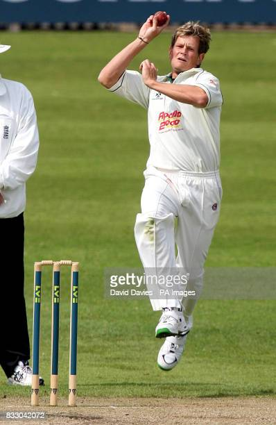 Worcestershire's Dewald Nel in action during the Liverpool Victoria County Championship Division One match at the County Cricket Ground New Road...