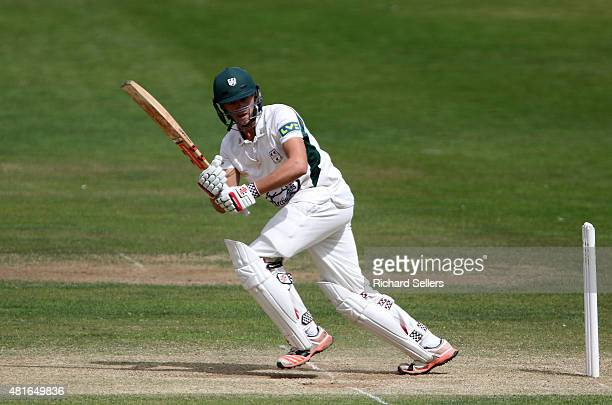 Worcestershire's Joe Clarke batting during day three of the LV County Championship division one match between Yorkshire and Worcestershire at North...