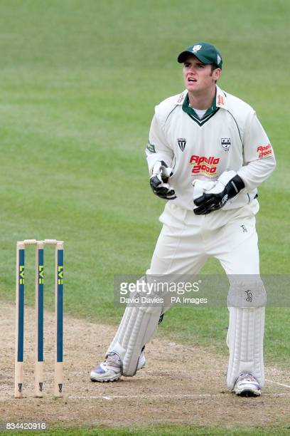 Worcestershire's Wicket keeper Steven Davies
