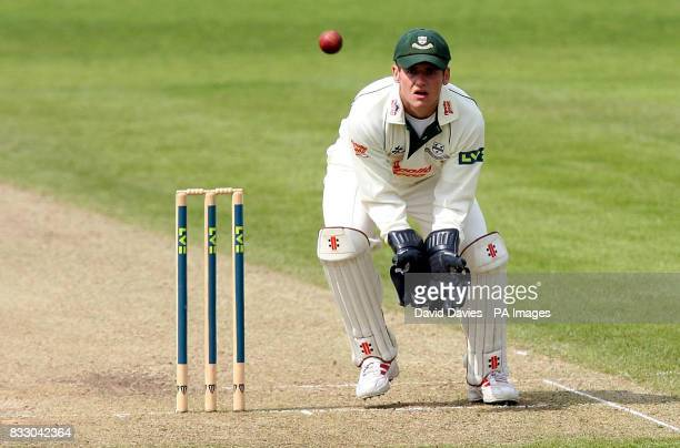 Worcestershire's wicketkeeper Steven Davies during the Liverpool Victoria County Championship Division One match at the County Cricket Ground New...