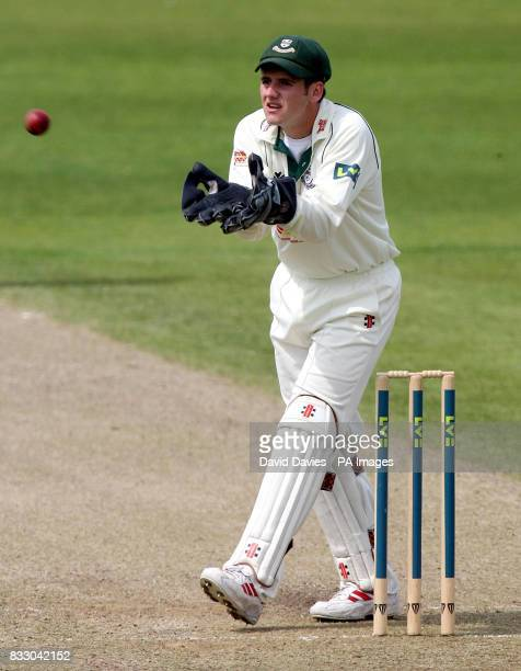 Worcestershire's wicketkeeper Steven Davies in action during the Liverpool Victoria County Championship Division One match at the County Cricket...
