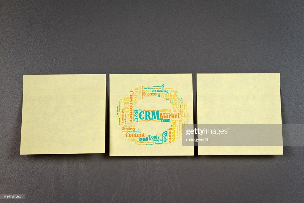 CRM palabra nube : Foto de stock
