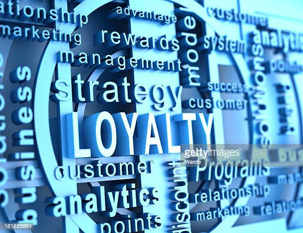 Word cloud with loyalty in blue