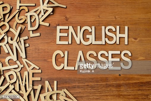 Word english classes : Stock Photo