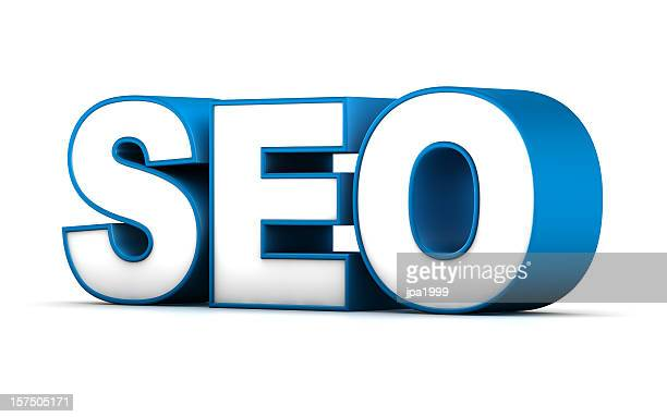 3D word for SEO 'search engine optimization'