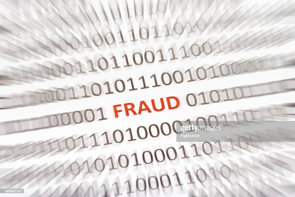 Word Fraud embedded in binary code : Stock Photo