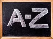 A-Z word on blackboard