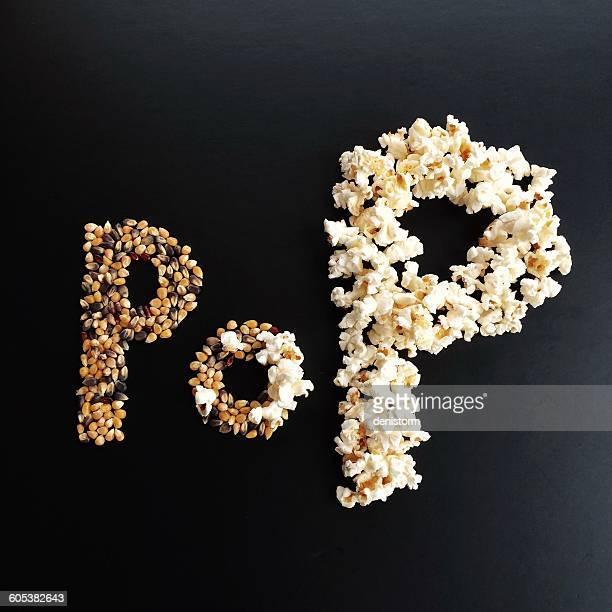 Word Pop written with Popcorn