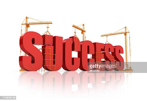 Word Success being built like a building
