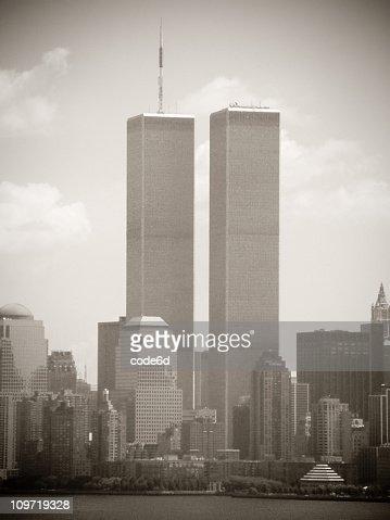 Word Trade Center, New York City 2001, sepia toned