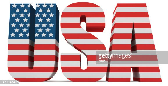 3d Usa Word With Us Flag Stock Photo Getty Images