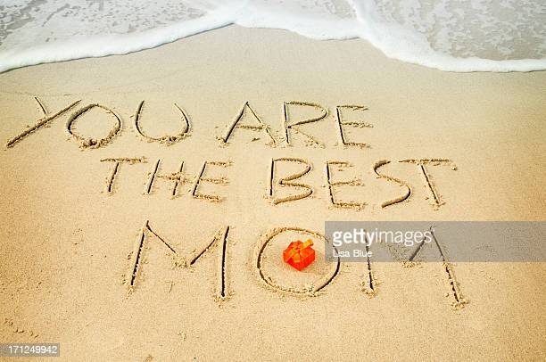 Words in the Sand for Mothers Day
