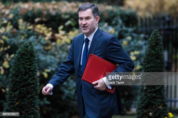 Work and Pensions Secretary David Gauke arrives for the weekly cabinet meeting at Downing Street on December 5 2017 in London England British Prime...