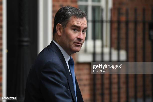 Work and Pensions Secretary David Gauke arrives in Downing Street ahead of a Cabinet meeting on October 10 2017 in London England The meeting will be...