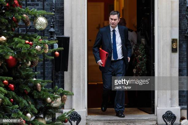 Work and Pensions Secretary David Gauke leaves following the weekly cabinet meeting at Downing Street on December 5 2017 in London England British...