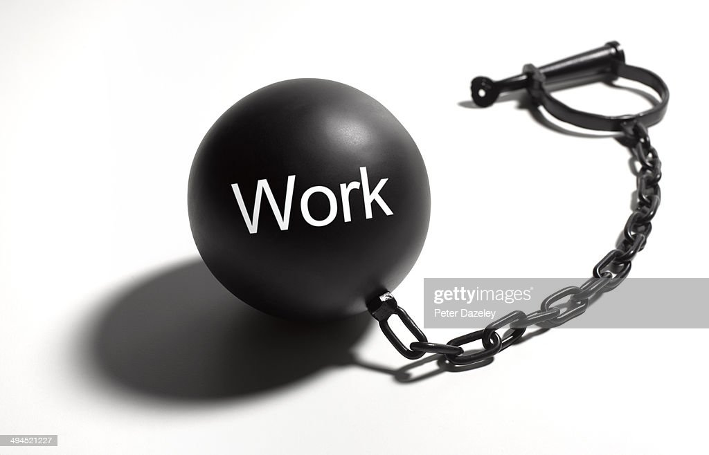 Work ball and chain : Stock Photo