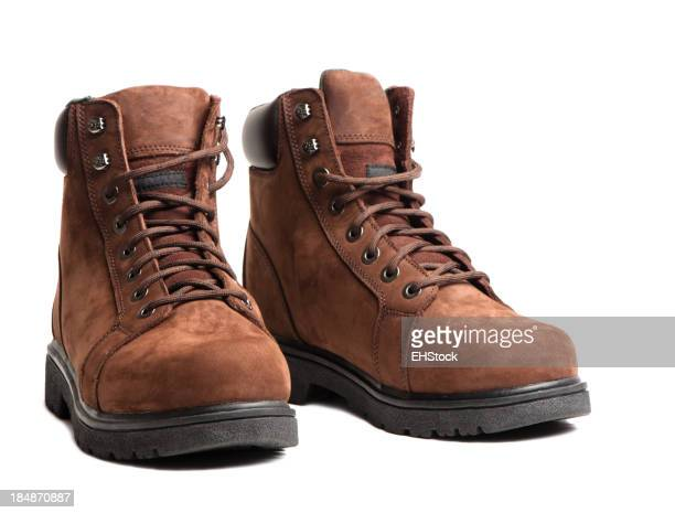 Work Boots Isolated on White Background