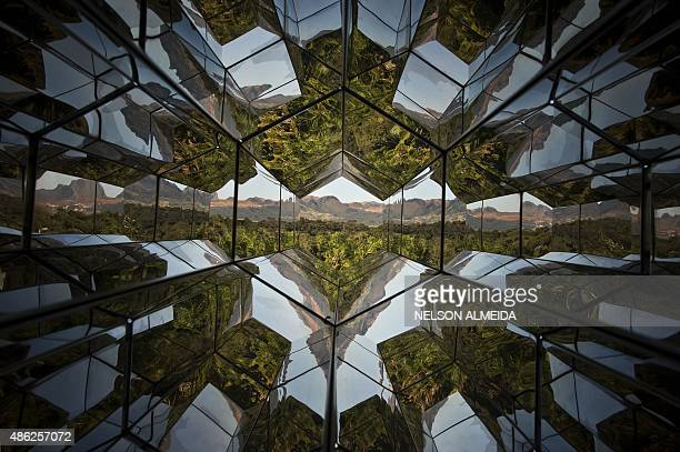 A work by Danish artist Olafur Eliasson is displayed at the Inhotim Centre for Contemporary Art in Brumadinho some 60 km from Belo Horizonte...