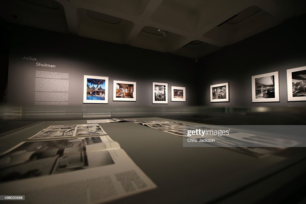 Work by Julius Shulman at the Constructing Worlds Photography And Architecture In The Modern Age exhibition at The Barbican Centre on September 24...