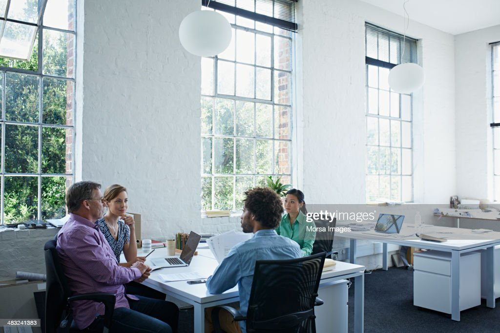 Work colleagues having a meetting : Stock Photo