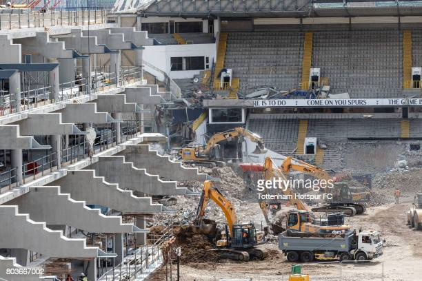 Work continues on the White Hart Lane redevelopment the new home of Tottenham Hotspur at White Hart Lane on June 26 2017 in London England