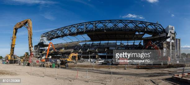 Work continues on the White Hart Lane redevelopment the new home of Tottenham Hotspur at White Hart Lane on July 4 2017 in London England