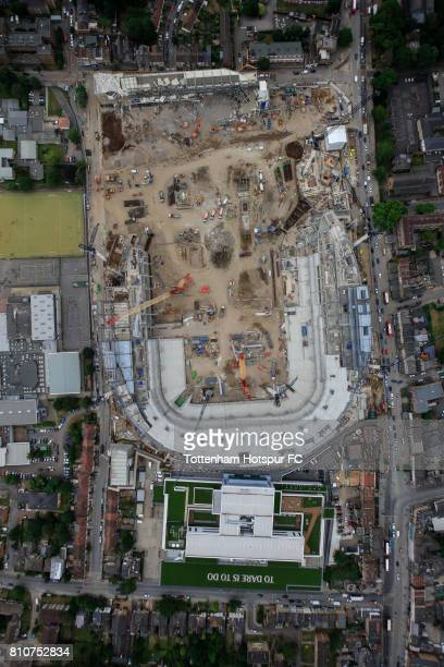 Work continues on the White Hart Lane redevelopment the new home of Tottenham Hotspur at White Hart Lane on July 3 2017 in London England