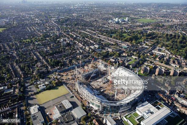Work continues on Tottenham Hotspur's New Stadium at White Hart Lane on October 6 2017 in London England