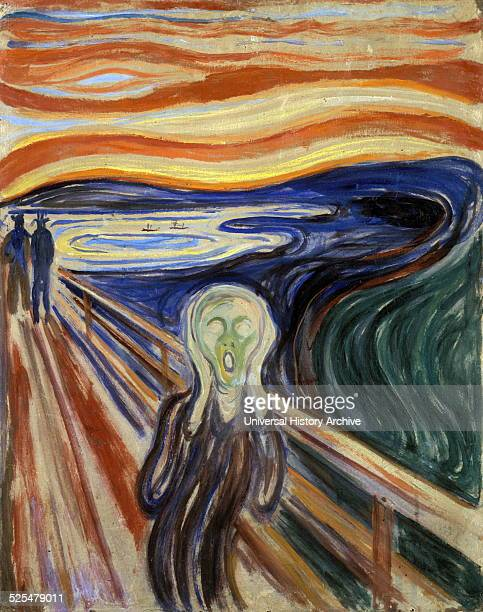 Work entitled The Scream by the Norwegian artist Edvard Munch This work was produced in 1893