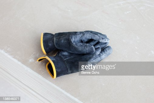 Work gloves on top of each other