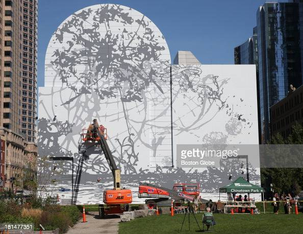 New mural draws praise curiosity at dewey square debut for Dewey square mural