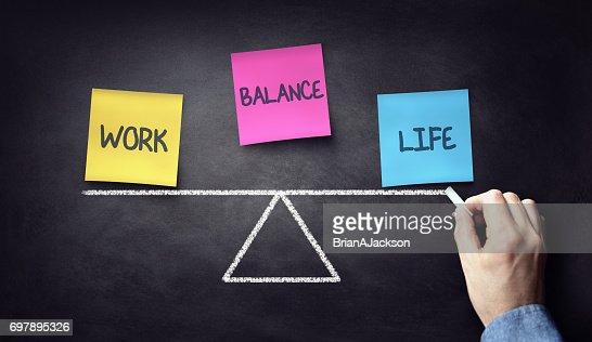 Equilibrio entre vida personal y trabajo : Foto de stock