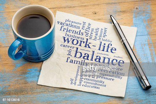 work life balance word cloud : Stock Photo