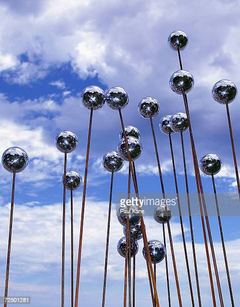 Work of art 'Negative Ions' by Louise Elscot of Western Australia on display during the Sculpture By The Sea exhibition at Cottesloe Beach on March...