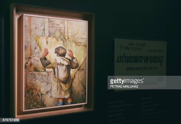 Work of painter and Holocaust survivor Samuel Bak are onm display at the museum of his allegorical work inspired by Jewish history in the Lithuanian...