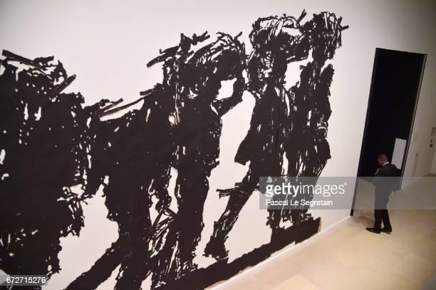 Work of William Kentridge during 'Art Afrique Le Nouvel Atelier' Exhibition Press Preview at Fondation Louis Vuitton on April 25 2017 in Paris France