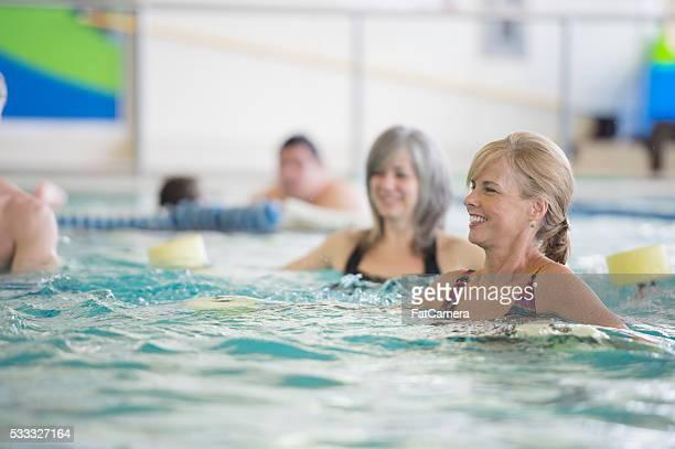 Faites de l'exercice dans la piscine
