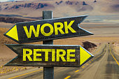 Work vs Retire crossroad