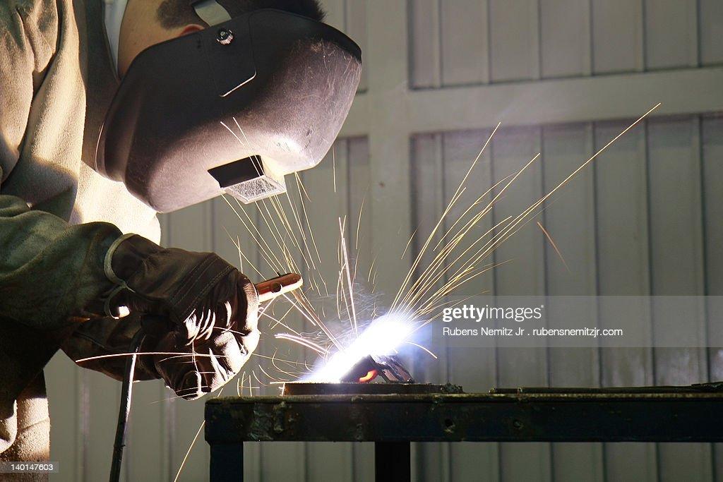 Work welder. : Stock Photo