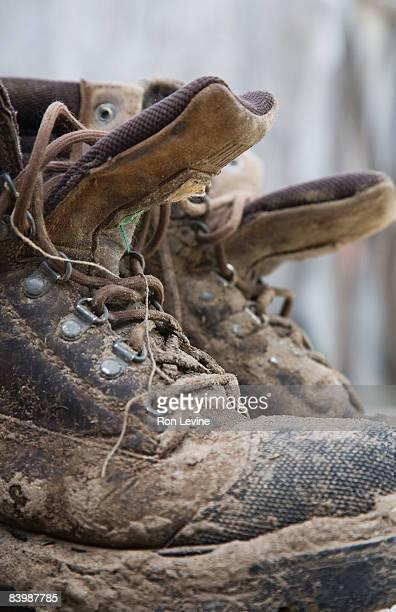 Work-boots at an organic farm